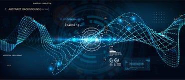 Computación de Quantum, algoritmos grandes de los datos libre illustration