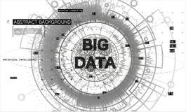 Computación de Quantum Vector grande del fondo de los datos stock de ilustración