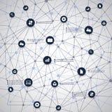 Computación y redes de la nube Imagen de archivo