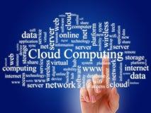 Computación de la nube. Foto de archivo libre de regalías