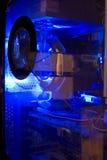 Computador azul Fotografia de Stock Royalty Free