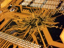 Computador azul Mainboard Fotos de Stock Royalty Free