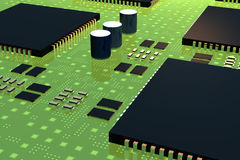 Computador Chips2 Fotografia de Stock Royalty Free