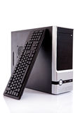 Computador com teclado Imagem de Stock