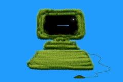 Computador da grama Imagem de Stock Royalty Free