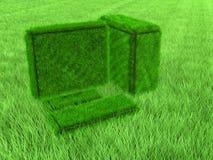 Computador da grama verde Imagens de Stock