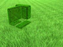 Computador da grama verde Fotos de Stock Royalty Free