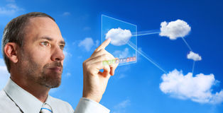 Computador da nuvem Imagem de Stock