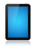 Computador da tabuleta com a tela azul isolada Fotografia de Stock Royalty Free