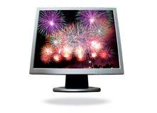 Computador da tela lisa Imagem de Stock