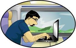 Computador da viagem Fotografia de Stock