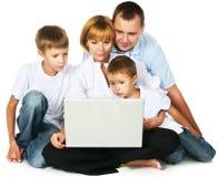 Computador de Familys Fotos de Stock