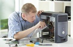 Computador de Reparing Imagem de Stock Royalty Free