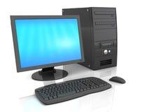 Computador de secretária Foto de Stock Royalty Free