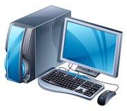 Computador de secretária ilustração royalty free
