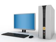 computador de secretária 3d Imagens de Stock