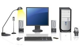 Computador de secretária. Imagens de Stock Royalty Free