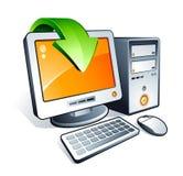 Computador de secretária Imagens de Stock