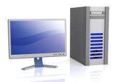 Computador de secretária Imagem de Stock