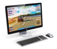 Computador de secretária do jogo Imagens de Stock