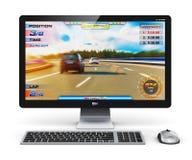 Computador de secretária do jogo Imagens de Stock Royalty Free