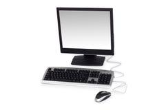 Computador de secretária isolado no fundo branco Foto de Stock