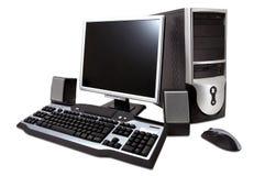 Computador de secretária Fotos de Stock Royalty Free
