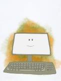 Computador de sorriso ilustração royalty free