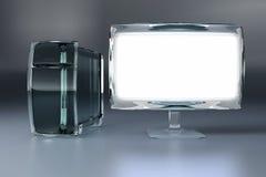 Computador de vidro ilustração stock