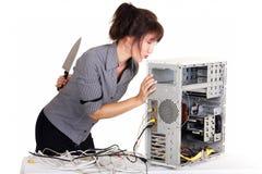 Computador do amor e do ódio Fotografia de Stock Royalty Free