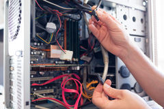 Computador do doutor Foto de Stock Royalty Free