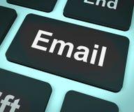 Computador do email para enviar por correio electrónico ou contatar Fotografia de Stock Royalty Free