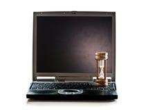 Computador do Hourglass fotografia de stock