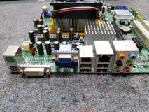 Computador do porto da parte traseira fotografia de stock