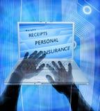 Computador do roubo de identidade pessoal Fotografia de Stock
