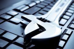Computador do teclado Foto de Stock Royalty Free