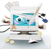 Computador doente ilustração stock