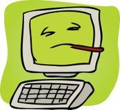 Computador doente Foto de Stock