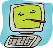 Computador doente Fotografia de Stock Royalty Free
