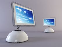 Computador dois moderno Fotografia de Stock Royalty Free