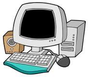 Computador dos desenhos animados Imagem de Stock Royalty Free