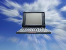 Computador e céu fotografia de stock