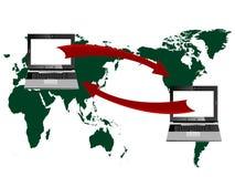 Computador e mundo ilustração royalty free