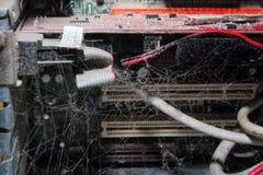 Computador empoeirado sujo Fotografia de Stock Royalty Free