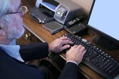 Computador executivo Imagem de Stock Royalty Free