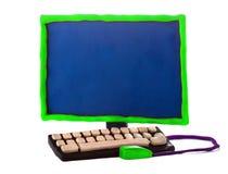 Computador feito a mão da massa de modelar Fotografia de Stock