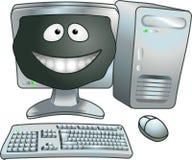 Computador feliz Fotos de Stock Royalty Free