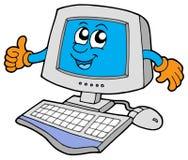 Computador feliz Imagens de Stock