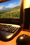 Computador moderno. fotografia de stock royalty free