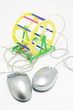 Computador Mouses Fotografia de Stock